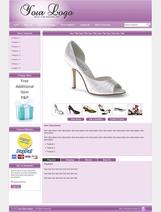 eDesignerPro inc: eBay Store Design | Auction Templates