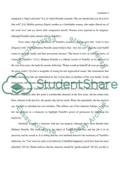 Tartuffe character analysis Book Report/Review Example | Topics ...