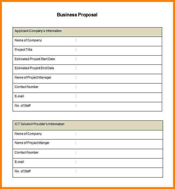 9+ free business proposal template | Proposal Template 2017
