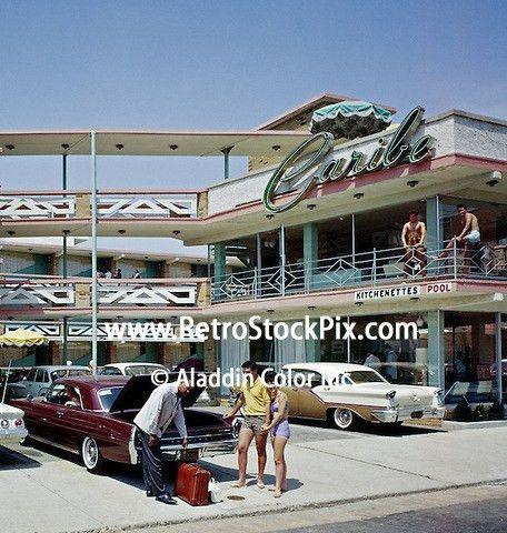 Caribe Motel, Atlantic City, NJ - Exterior with Porter, 1960's 133 ...