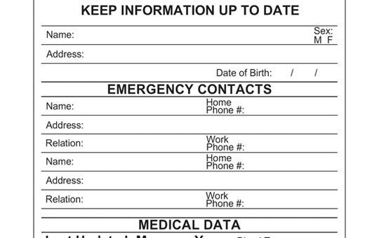 File of Life | Emergency Medical Information - Medical ID Card