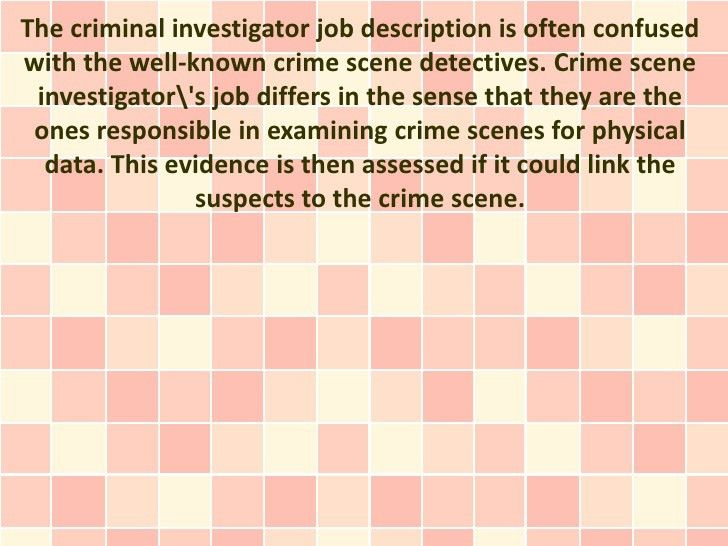 A Look Into the Criminal Investigator Job Description