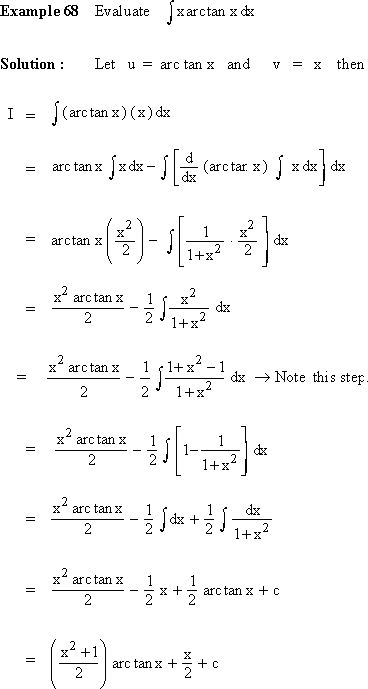 PinkMonkey.com Calculus Study Guide - Section 6.6 Integration by Parts