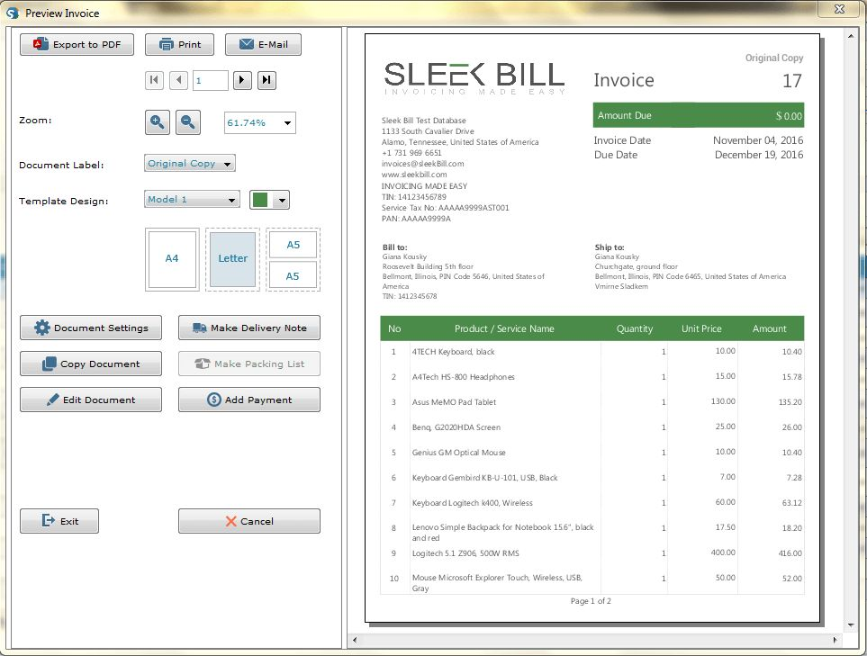 Free Invoice Software India