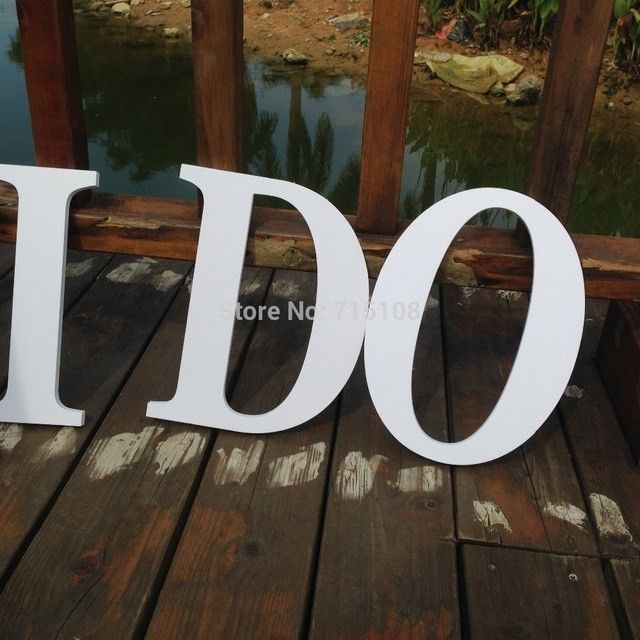 Aliexpress.com : Buy Wedding Letters Outdoor Photo Props I DO ...