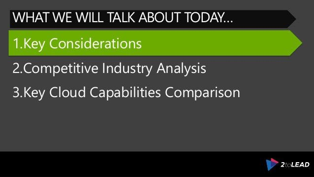 Evaluate Microsoft Azure For The Competitive Public Cloud Industry