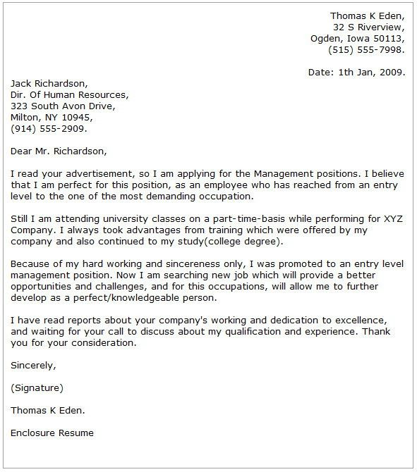Sample Of Cover Letter For Management Accountant - Compudocs.us