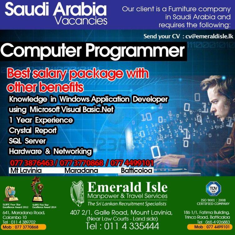 Computer Programmer – Saudi Arabia