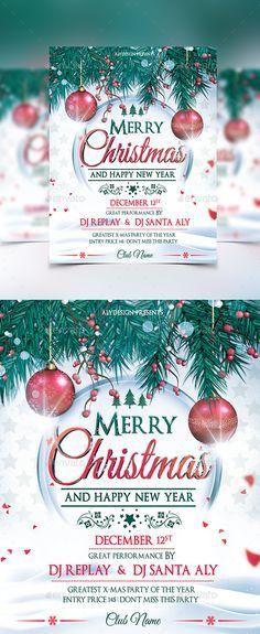 christmas poster template | illustration | Pinterest | Christmas ...