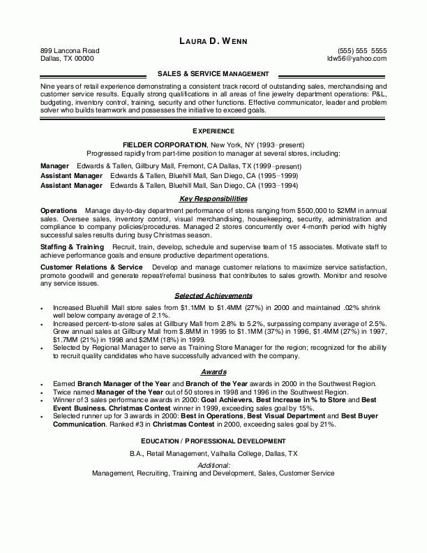 Download Resume Examples For Retail | haadyaooverbayresort.com