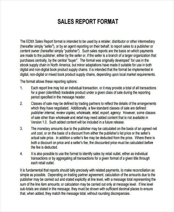 32+ Examples of Sales Reports