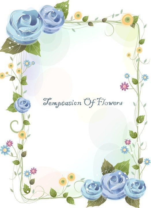Page Border Designs For Projects With Flowers | Free Download Clip ...