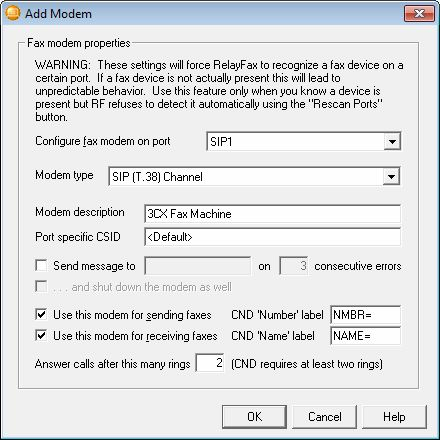 Using RelayFax as a Fax Server with 3CX PhoneSystem