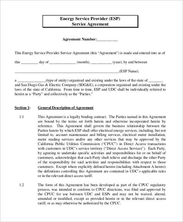 Sample Service Agreement - 11+ Examples in Word, PDF