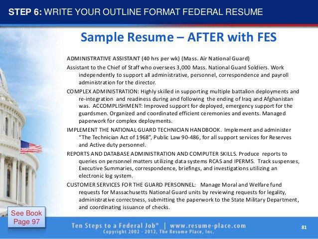 federal resume samples format federal resume format 2016 how to