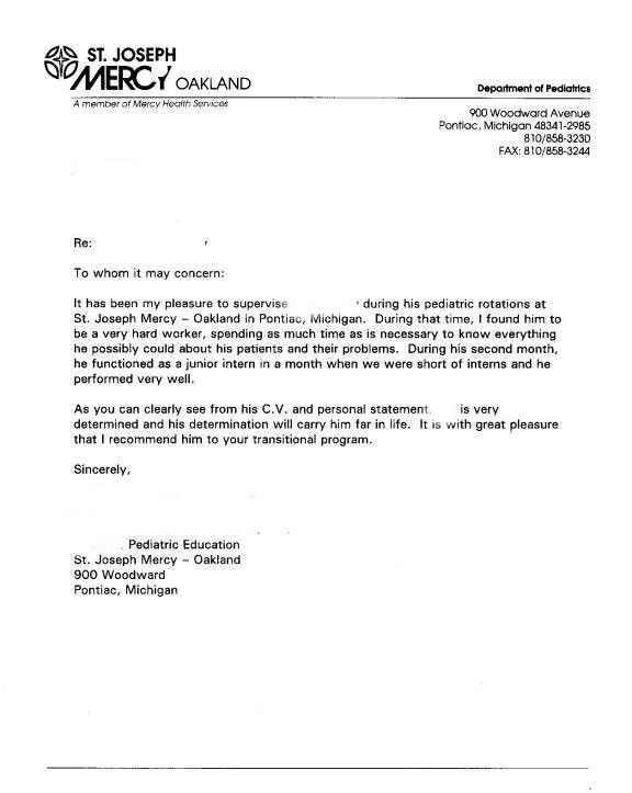 Recommendation Letter Example. Resume Template For Letters Of ...