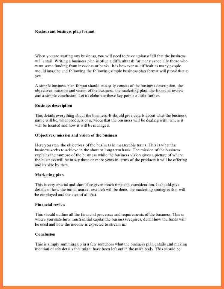 Sample Business Plan Outline Template. Business Plan Outline ...