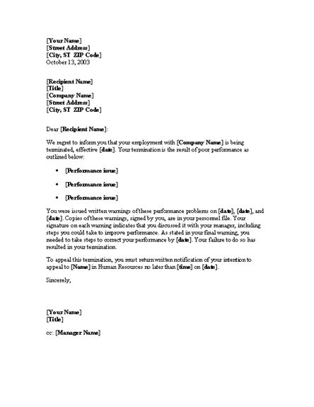 10 Best Images of Employment Notice Letter Template - Job Notice ...