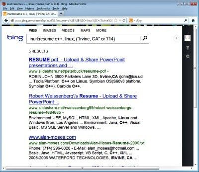Advanced Search Engine Operators to Find Resumes