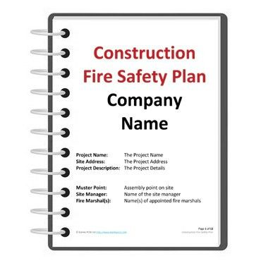 Construction fire safety plan template | Darley PCM