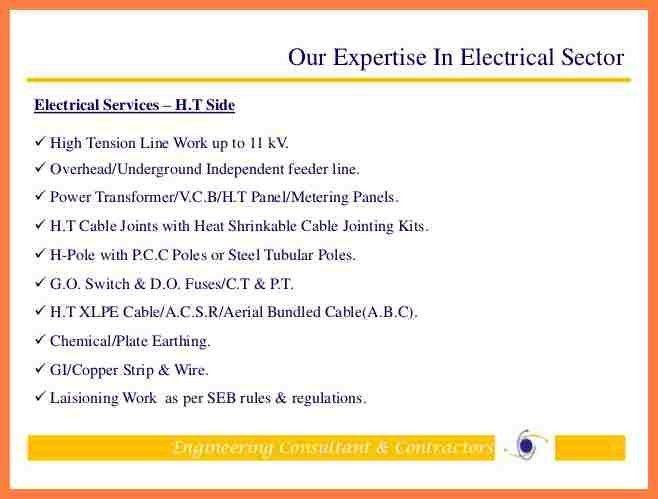 4+ engineering company profile template   Company Letterhead