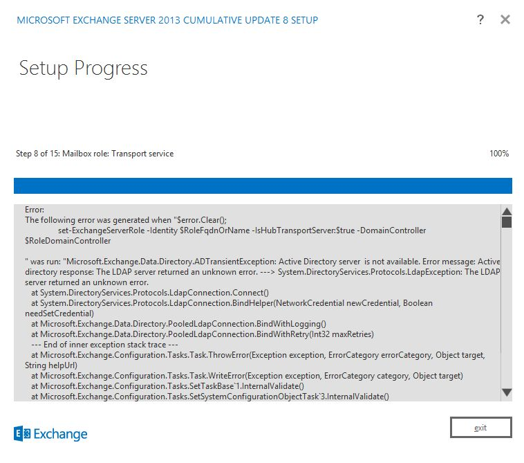 How does it work the Exchange Server 2013 setup resume process ...