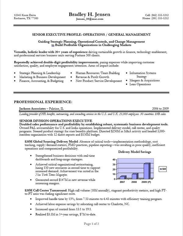Resume Templates For Executives