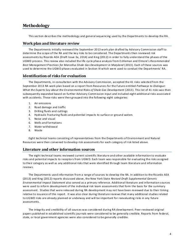 Maryland Risk Assessment of Shale Drilling & Fracking