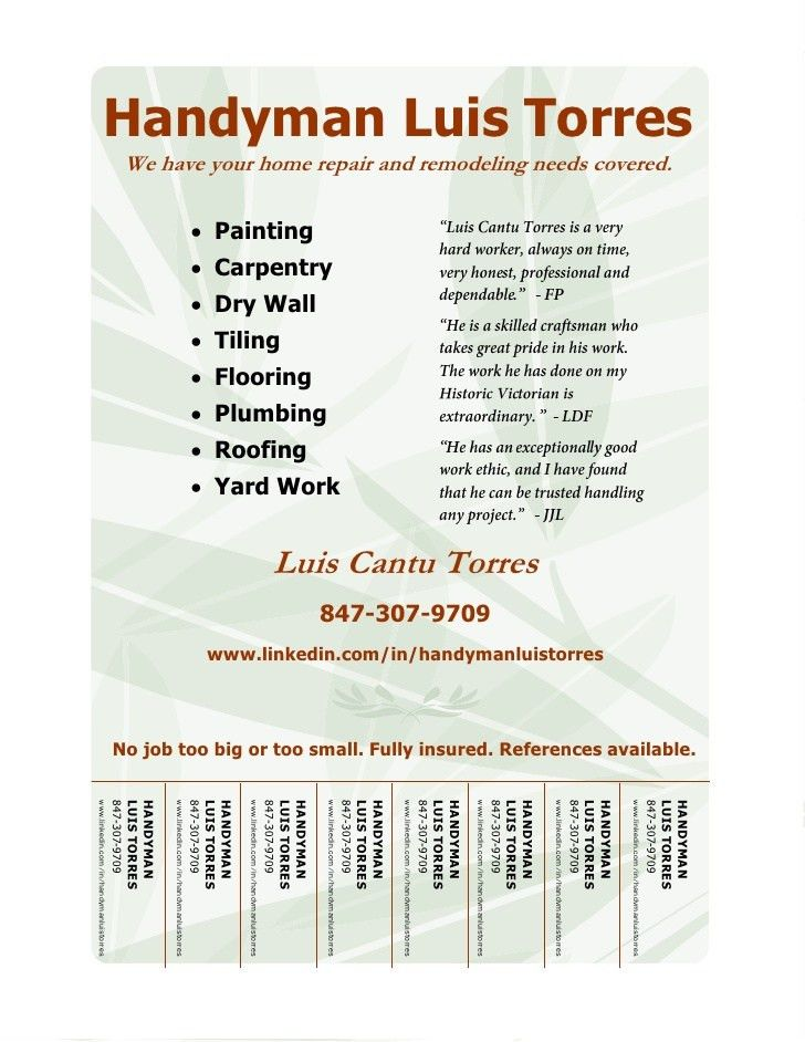 Small Job Handyman Flyers Related Keywords & Suggestions - Small ...