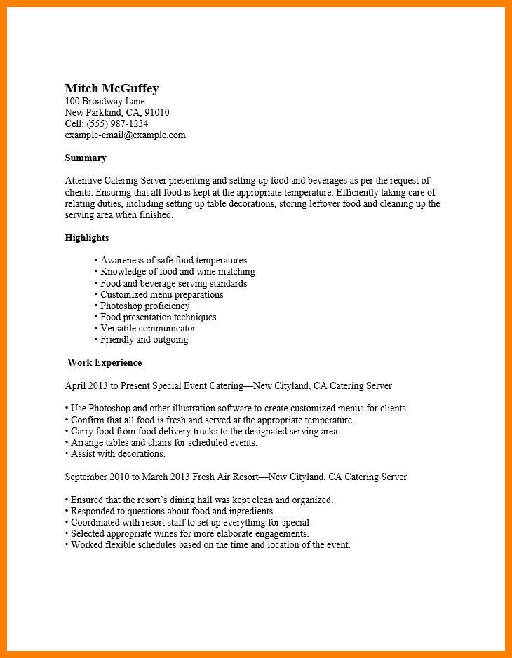 5+ cocktail waitress resume | affidavit letter