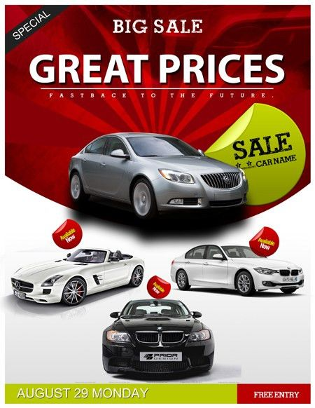 Auto Sales Flyer Template Car Sales PSD Flyer Template - Trendy ...