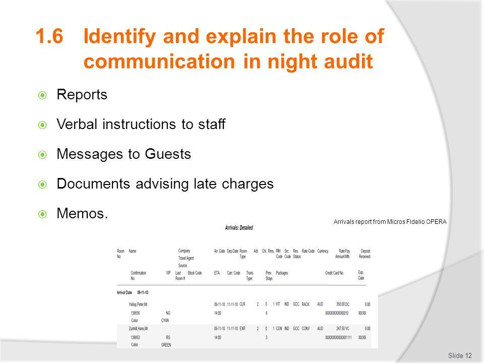 CONDUCT A NIGHT AUDIT D1.HFO.CL ppt video online download