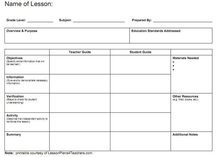 Best 25+ Blank lesson plan template ideas on Pinterest | Weekly ...