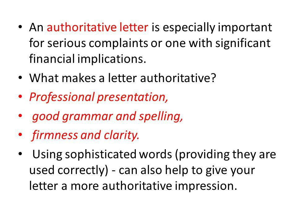 HOW TO WRITE A LETTER OF COMPLAINT - ppt video online download