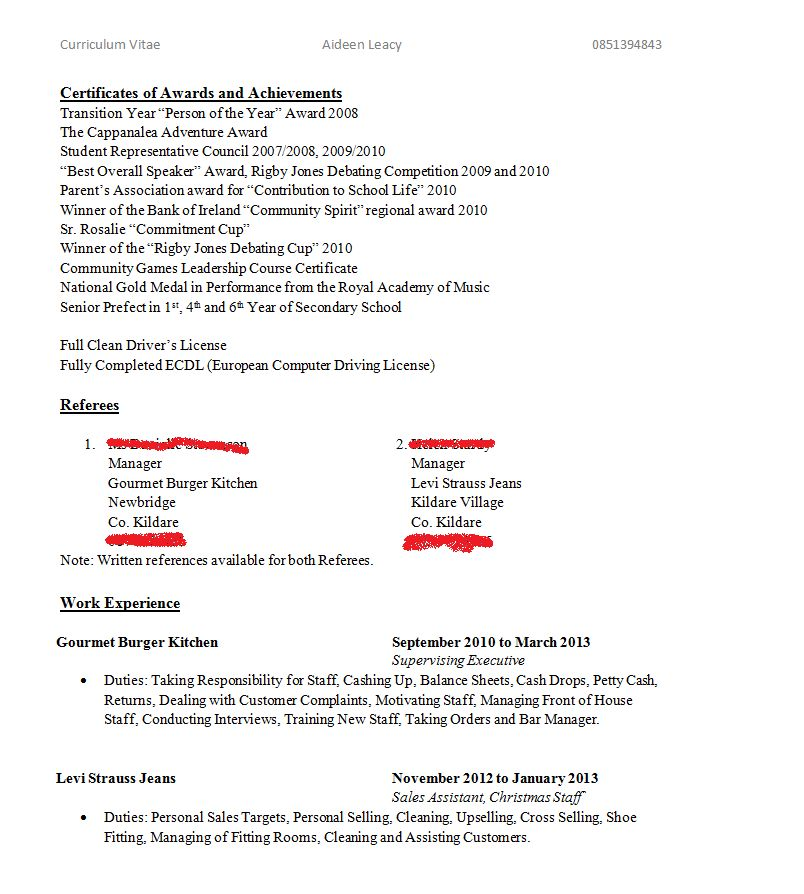 Write My Resume - Resume Example