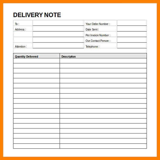 3+ delivery note format | addressing letter