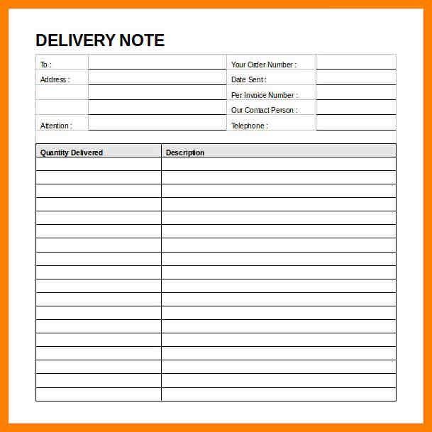 3+ delivery note format   addressing letter