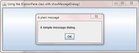 Java 6 Swing - Dialogs