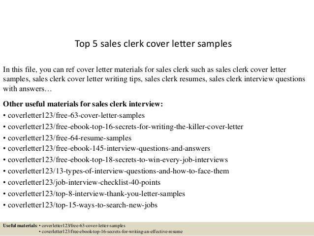 Sales Clerk Sample Resume Sales Clerk Resume Example Sample Cash