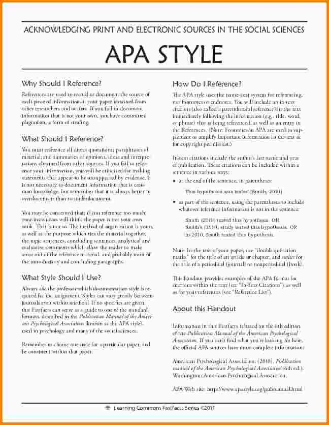 7+ example of apa style | nypd resume