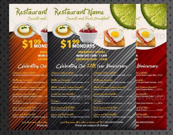 30+ Food Menus Templates for Café and Restaurants | Ginva