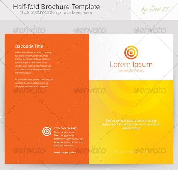 36+ Half Fold Brochure Templates – Free PSD, EPS, AI, InDesign ...