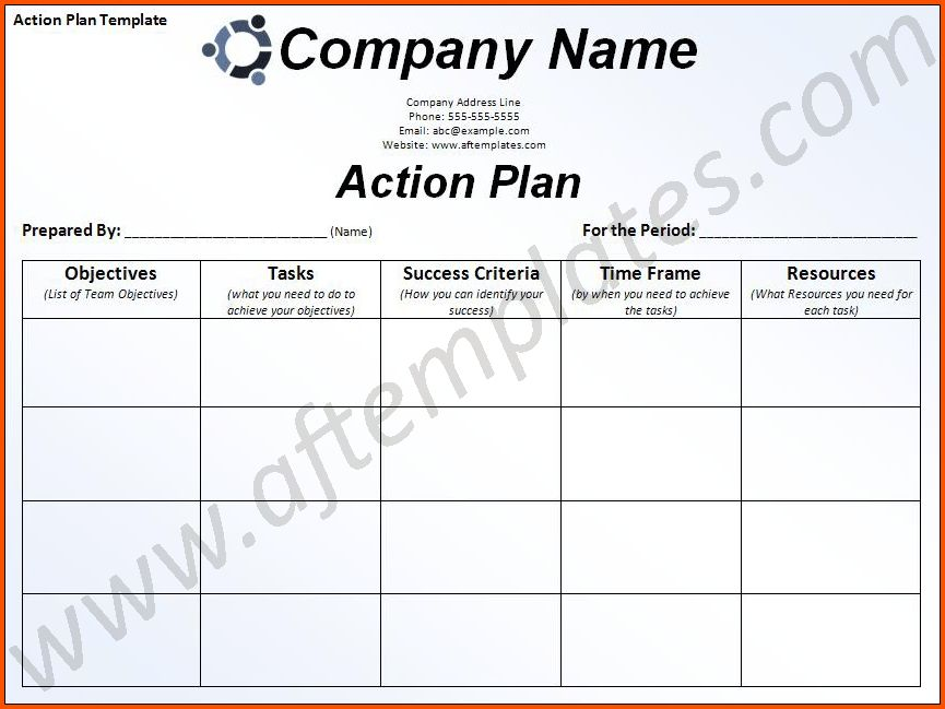 11+ action plan template word | Survey Template Words