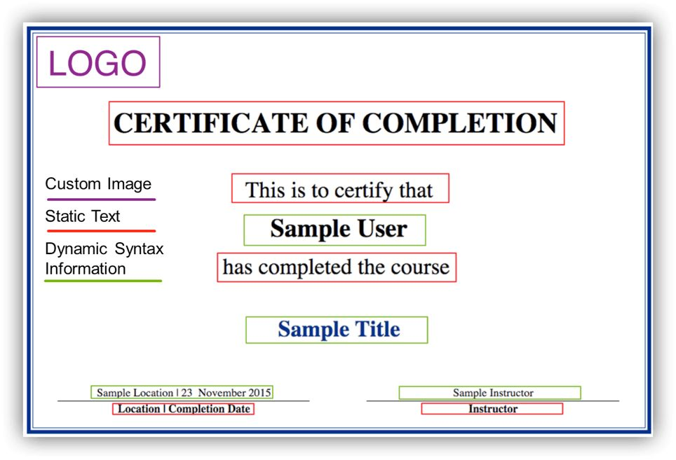 "New"" Feature – Certificate of Completion Editor (Overview) 