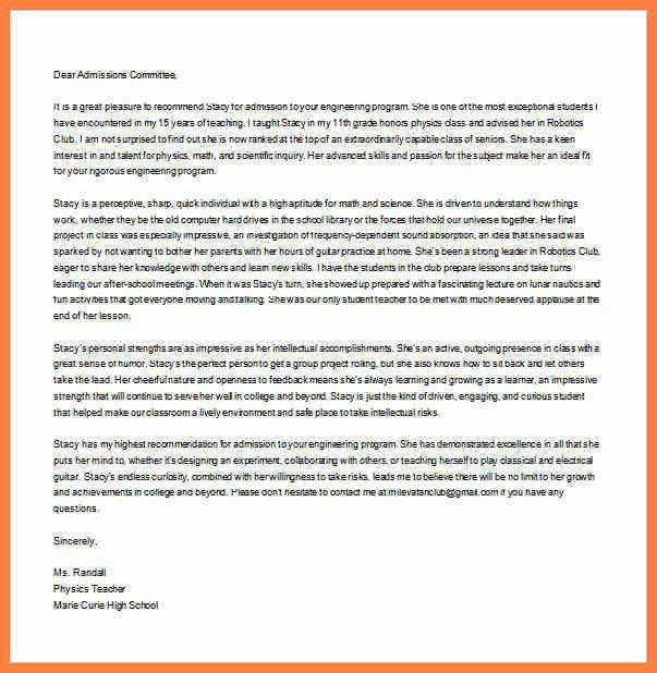 6+ high school student recommendation letter sample   Life ...