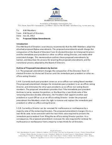 Amendment To Bylaws Template. free alaska corporate bylaws ...