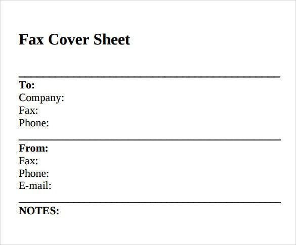 Blank Fax Cover Sheet. Fax Cover Sheet Template 03 40 Printable ...