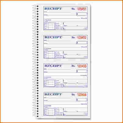 3+ receipt book template | Printable Receipt