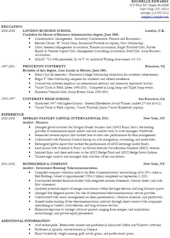 entry level mba resume student entry level mba resume template