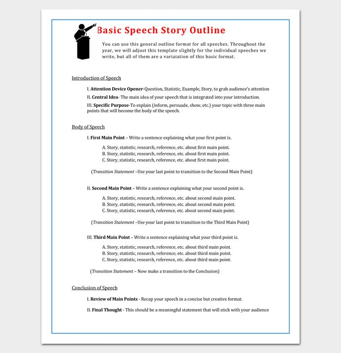 Story Outline Template - 15+ for Word and PDF Format